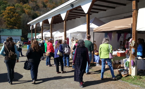 Overhang vendors at Vermont Sheep & Wool Festival